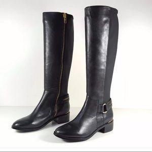 Steve Madden RYPERR Black Leather Tall Boots NWOB